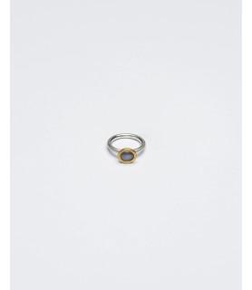 silver ring with star sapphire